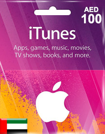 aed100 itunes gift card ae