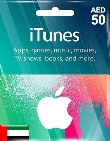 aed50 itunes gift card ae