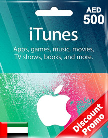 aed500 itunes gift card ae discount promo