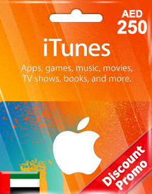 aed250 itunes gift card ae discount promo