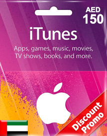 aed150 itunes gift card ae discount promo