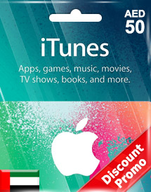 aed50 itunes gift card ae discount promo