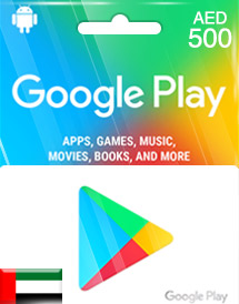 google play aed500 gift cards ae