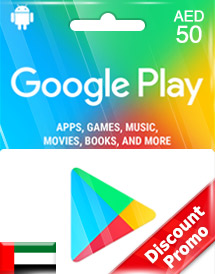 google play aed50 gift cards ae discount promo