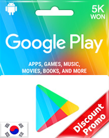 google play 5,000won gift card kr discount promo