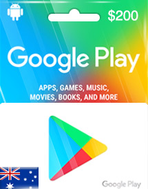 google play aud200 gift card au