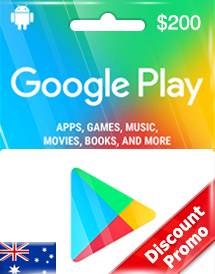 google play aud200 gift card au discount promo