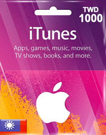 itunes twd1000 gift card tw