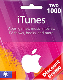 itunes twd1000 gift card tw discount promo