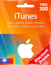 itunes twd300 gift card tw discount promo