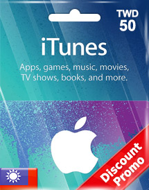 itunes twd50 gift card tw discount promo