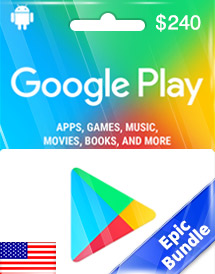 google play usd240 gift card us epic bundle