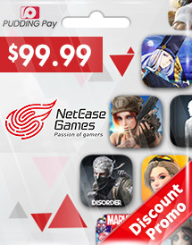 netease game code pudding pay usd99.99 global discount promo