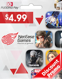 netease game code pudding pay usd4.99 global discount promo