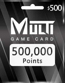 multi game card 500,000 points global