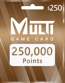 multi game card 250,000 points global
