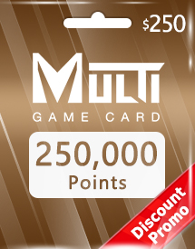 multi game card 250,000 points global discount promo