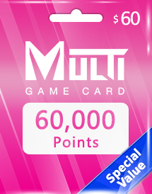 multi game card 60,000 points global*
