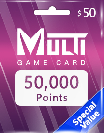 multi game card 50,000 points global*