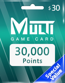 multi game card 30,000 points global*