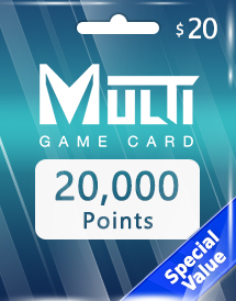 multi game card 20,000 points global*