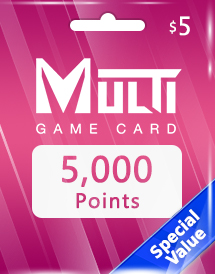 multi game card 5,000 points global*