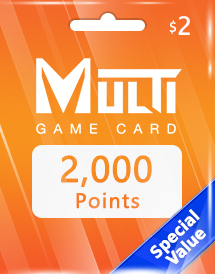 multi game card 2,000 points global*