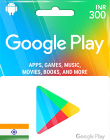 google play inr300 gift cards in