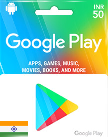 google play inr50 gift cards in