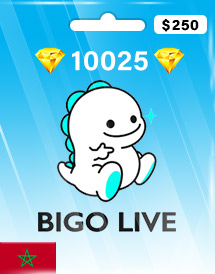 bigo live 10025 diamonds usd250 ma