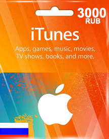 itunes 3,000rub gift card ru