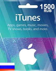 itunes 1,500rub gift card ru