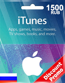 itunes 1,500rub gift card ru discount promo