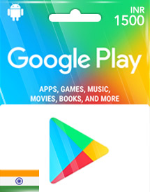 google play inr1,500 gift cards in