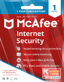mcafee internet security 1 device global