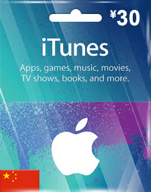 cny30 itunes gift card cn