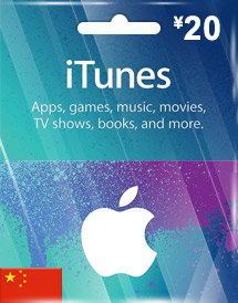 cny20 itunes gift card cn