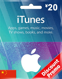 cny20 itunes gift card cn discount promo