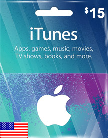 itunes usd15 gift card us