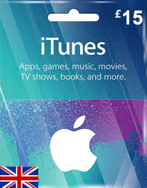 itunes gbp15 gift card uk