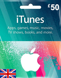 itunes gbp50 gift card uk