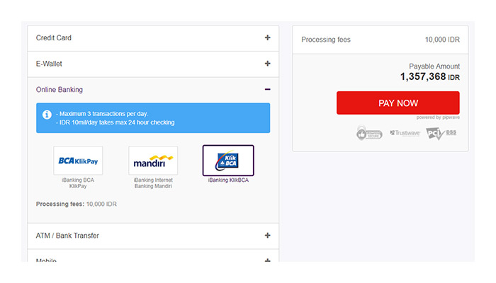 Checkout with ibanking klikbca offgamers payment guide klbcaa1g stopboris Choice Image